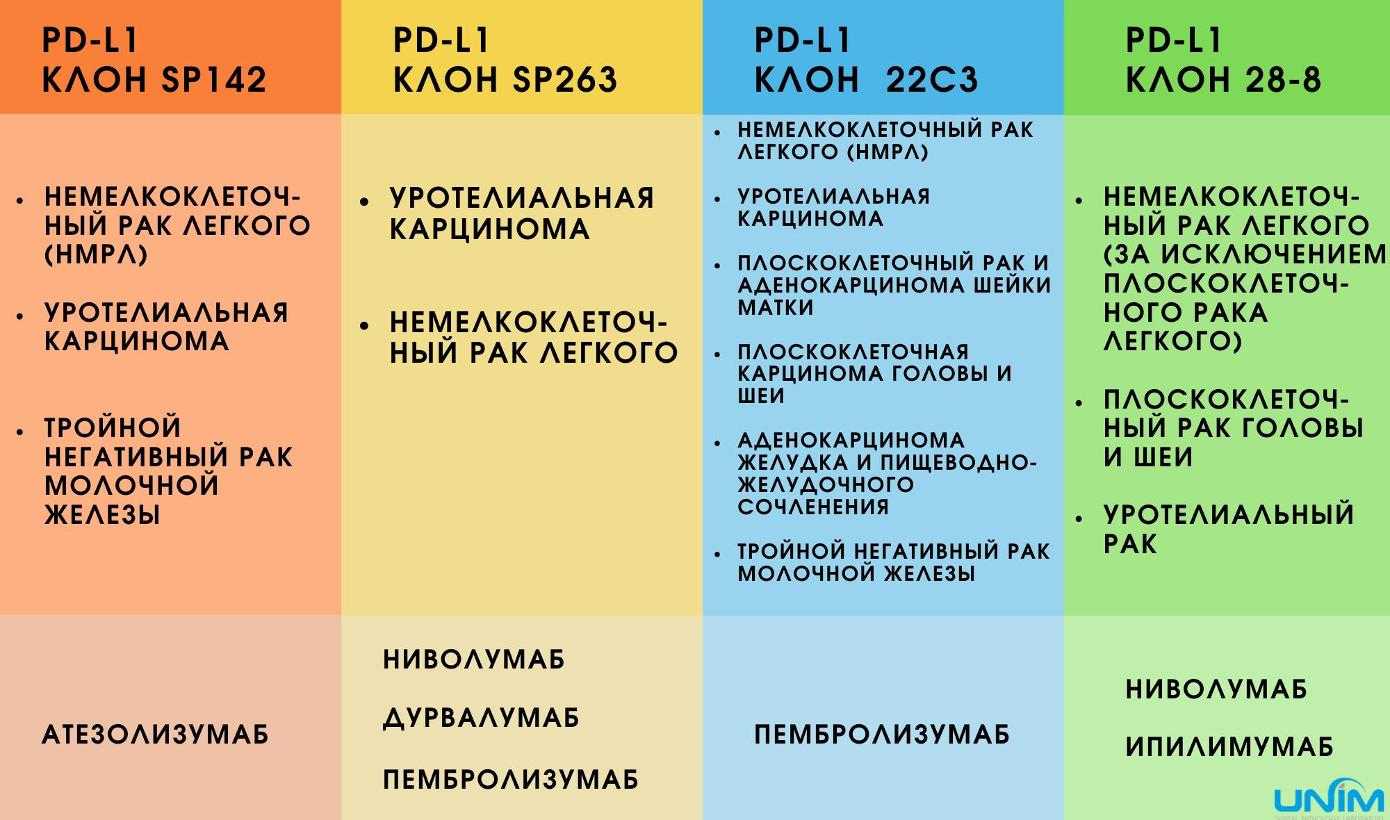 PD-L1 клоны